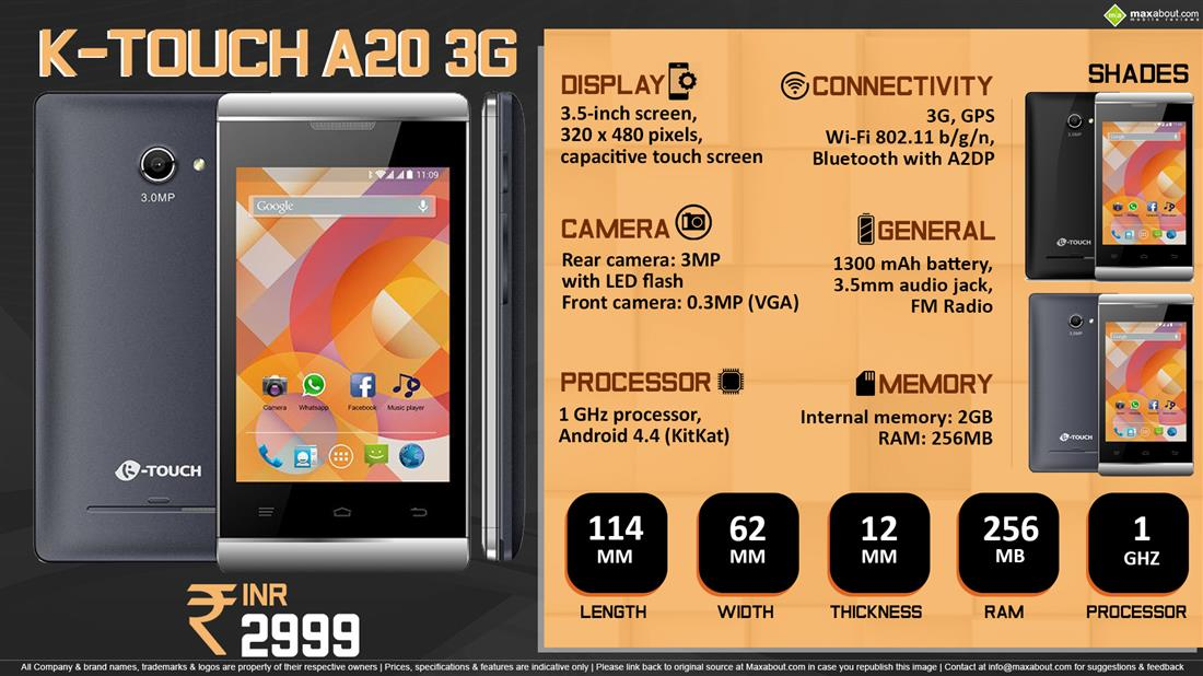 K-Touch A20