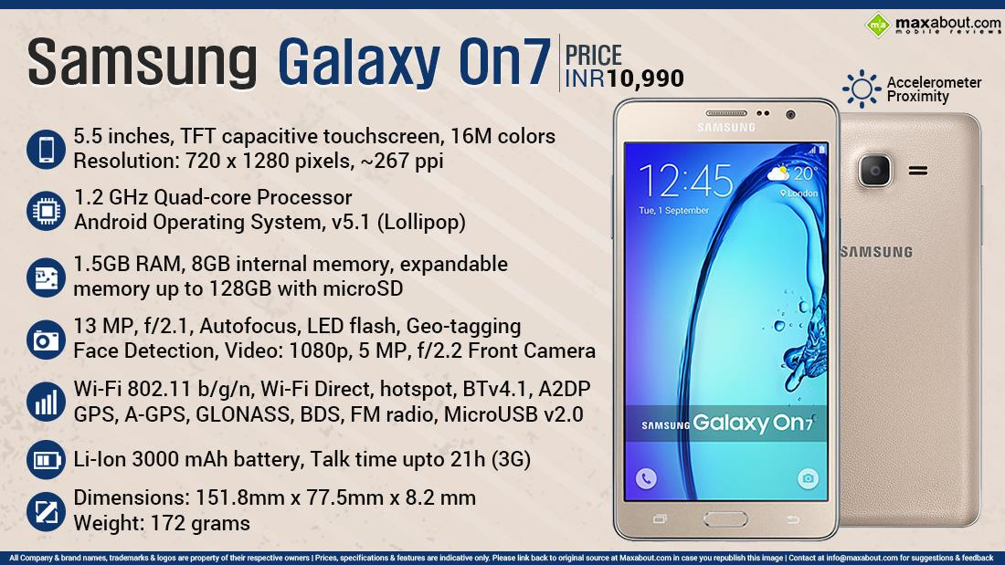 samsung galaxy on7 features  specifications  details